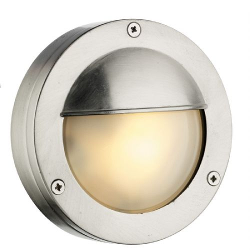 Bembridge Round Wall Light Nickel IP44 (Hand made, 7-10 day Delivery)